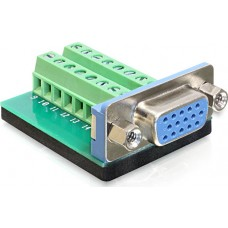 DeLOCK Adapter Terminalblock, VGA Sub-D 15Pin Hona
