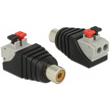 DeLOCK RCA terminalblocksadapter, RCA hona, pitch 5mm