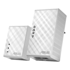ASUS - PL-N12KIT Homeplug-kit med  Wi-Fi, 500Mbps via elnätet, vit