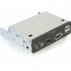 "DeLOCK 3,5"" frontpanel med power over eSATA/USB/Firewire/ljud-portar"