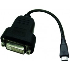 Accell adapterkabel, mini HDMI till DVI-D adapter, 0,19m, svart