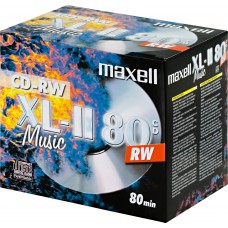Maxell CD-RW 52x, 700 MB / 80 min, 10-pack jewel case, audio silver