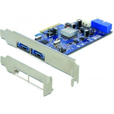 DeLOCK PCI-Express x4 kort, 2xMultiport, 19-pin USB 3.0 internt