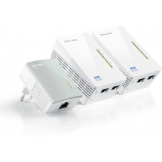 AV500 2-port Powerline WiFi  Extender 3-pack KIT, 500Mbps/300Mbps, vit